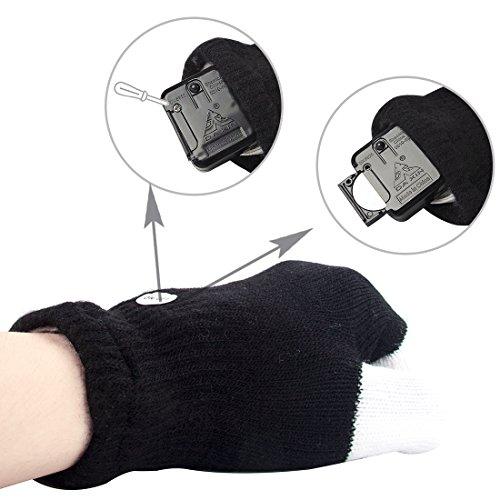 51P Q6j72QL - LED Light up Gloves Finger Light Gloves for Kids Adults Glow Rave EDM Gloves Funny Novelty Gifts