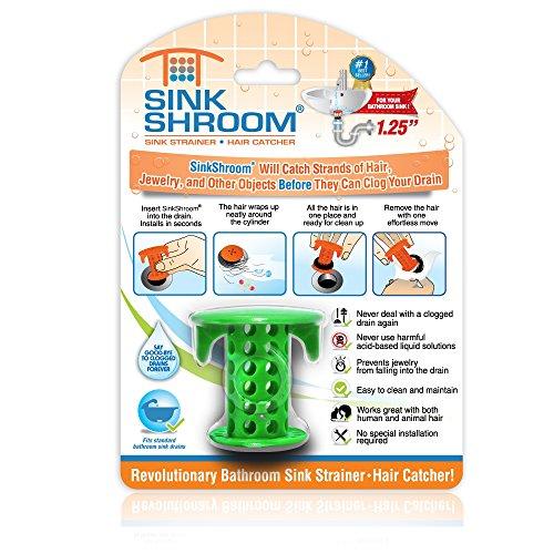 51PSnNNNRKL - SinkShroom The Revolutionary Sink Drain Protector Hair Catcher/Strainer/Snare, White