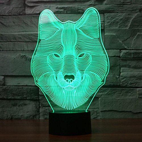 51ReRyFNsZL - Dinosaur 3D Night Light Touch Activated Desk Lamp, Ticent 7 Colors 3D Optical Illusion Lights with Acrylic Flat, ABS Base & USB Charger for Christmas Kids Gifts