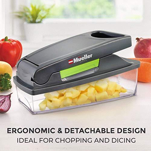 51S0xdnrebL - Mueller Onion Chopper Pro Vegetable Chopper - Strongest - NO MORE TEARS 30% Heavier Duty Multi Vegetable-Fruit-Cheese-Onion Chopper-Dicer-Kitchen Cutter