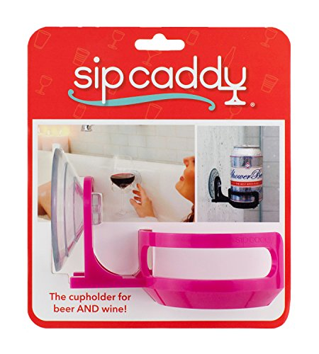 51S1fanxMML - SipCaddy Bath & Shower Portable Cupholder Caddy for Beer & Wine Suction Cup Drink Shower Beer Holder, Clear