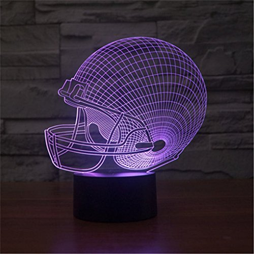 51SNZ20fFPL - Dinosaur 3D Night Light Touch Activated Desk Lamp, Ticent 7 Colors 3D Optical Illusion Lights with Acrylic Flat, ABS Base & USB Charger for Christmas Kids Gifts