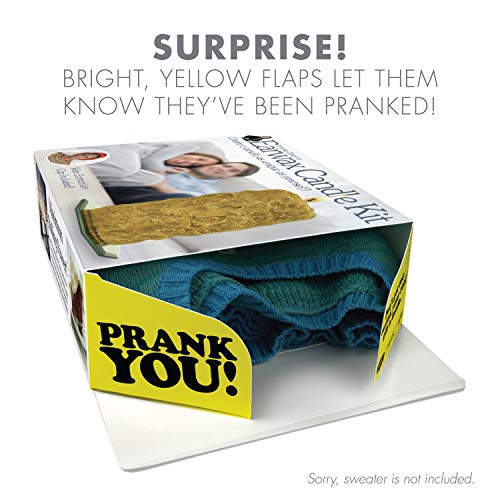 """51TW4sNTVtL - Prank Pack """"Earwax Candle Kit"""": Wrap Your Real Gift in a Prank Funny Gag Joke Gift Box - by Prank-O - The Original Prank Gift Box 
