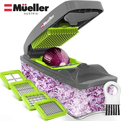 51Tn hC K0L - Mueller Onion Chopper Pro Vegetable Chopper - Strongest - NO MORE TEARS 30% Heavier Duty Multi Vegetable-Fruit-Cheese-Onion Chopper-Dicer-Kitchen Cutter
