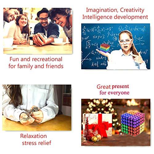 51TorZMVBoL - JIFENGTOYS 8 Colors 216 Pcs 5MM Magnets Fidget Blocks Building Toys Magnetic Building Blocks Sets for Development Stress Relief Learning Gift for Adults (216 PCS)