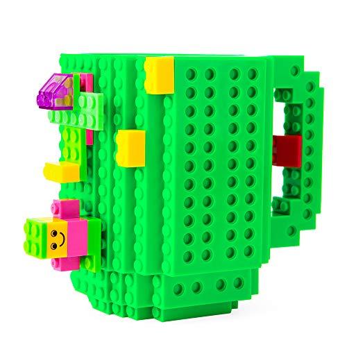 51U7kDqHSxL - BOMENNE Build-on Brick Mug,Novelty Creative Compatible with LEGO DIY building Blocks Coffee Cup with bricks,is unique Christmas gift Idea (Black)
