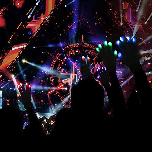 51UMgT6tPJL - LED Light up Gloves Finger Light Gloves for Kids Adults Glow Rave EDM Gloves Funny Novelty Gifts