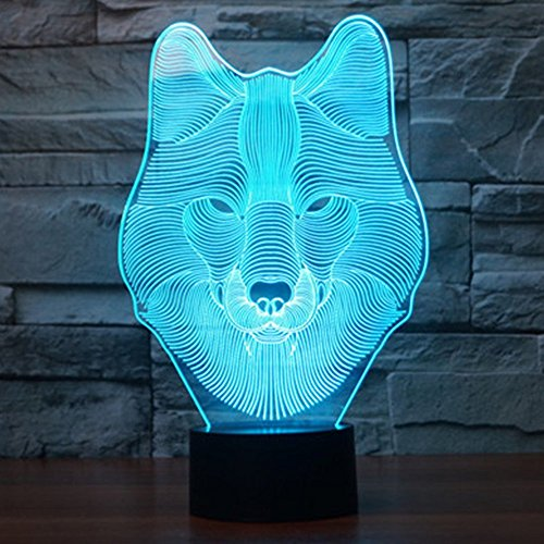 51Vx3q Cu6L - Dinosaur 3D Night Light Touch Activated Desk Lamp, Ticent 7 Colors 3D Optical Illusion Lights with Acrylic Flat, ABS Base & USB Charger for Christmas Kids Gifts