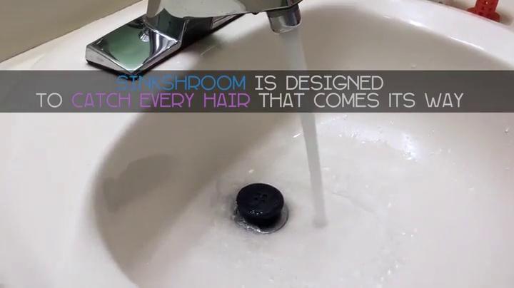 51WHQknfVzL - SinkShroom The Revolutionary Sink Drain Protector Hair Catcher/Strainer/Snare, White