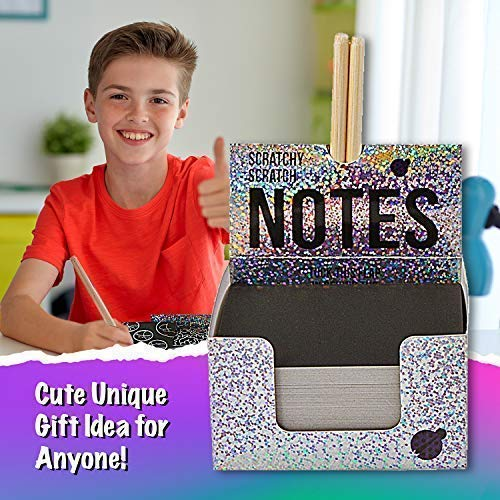 51X4sW8KCgL - Rainbow Scratch Off Mini Notes + 2 Stylus Pens Kit: 150 Sheets of Rainbow Scratch Paper for Kids Arts and Crafts, Airplane or Car Travel Toys - Cute Unique Gift Idea for Kids, Girls, Women, or Anyone!