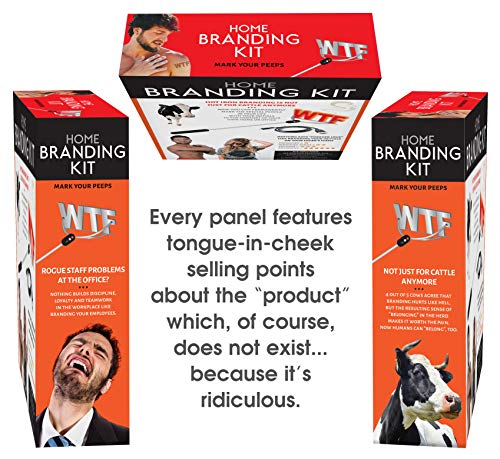 51Y6A31K9gL - Maad Home Branding Kit Prank Gift Box - Perfect Gag, Anniversary Presents, or White Elephant