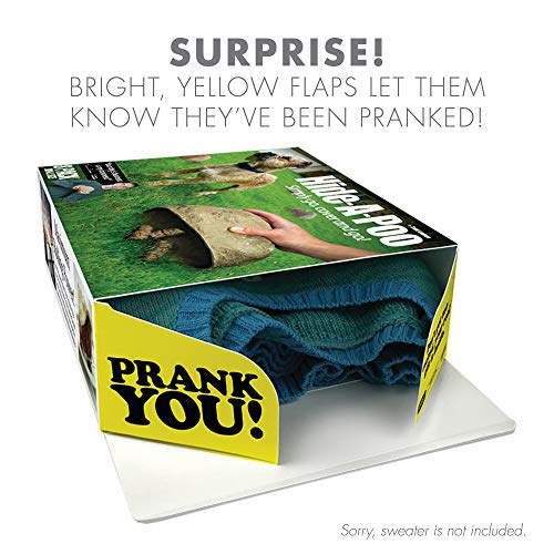 """51YpfMOZOAL - Prank Pack """"Hide-A-Poo"""" - Wrap Your Real Gift in a Prank Funny Gag Joke Gift Box - by Prank-O - The Original Prank Gift Box   Awesome Novelty Gift Box for Any Adult or Kid!"""