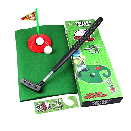 51a4VI0mmdL - Toilet Golf Potty Time Putter Game - Funny Gag Gifts for Adults