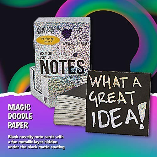 51bBs4y2fhL - Rainbow Scratch Off Mini Notes + 2 Stylus Pens Kit: 150 Sheets of Rainbow Scratch Paper for Kids Arts and Crafts, Airplane or Car Travel Toys - Cute Unique Gift Idea for Kids, Girls, Women, or Anyone!