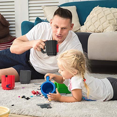 51c2hj2BR3uL - BOMENNE Build-on Brick Mug,Novelty Creative Compatible with LEGO DIY building Blocks Coffee Cup with bricks,is unique Christmas gift Idea (Black)