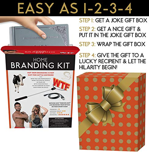 51cYSGHf7iL - Maad Home Branding Kit Prank Gift Box - Perfect Gag, Anniversary Presents, or White Elephant