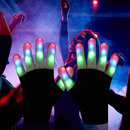 51cjHJMnk8L - LED Light up Gloves Finger Light Gloves for Kids Adults Glow Rave EDM Gloves Funny Novelty Gifts