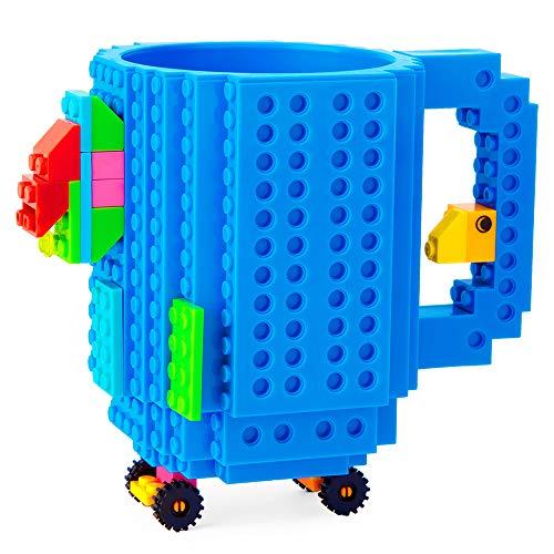 51dEAS8owpL - BOMENNE Build-on Brick Mug,Novelty Creative Compatible with LEGO DIY building Blocks Coffee Cup with bricks,is unique Christmas gift Idea (Black)