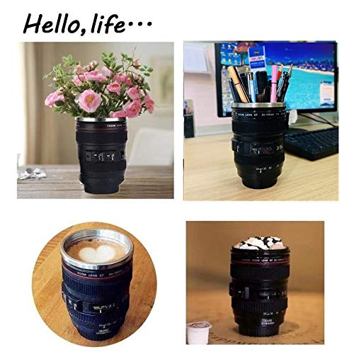 51eztSJcO0L - Coffee Mug,Camera Lens Cup with Sipping Lid,Super Bundle(Spoon+Straw+Brush),Insulated Stainless Steel Travel Mug,Beer Tumbler,Photographer Tea Cup,Novelty Gifts for All Festival,by Triumphic