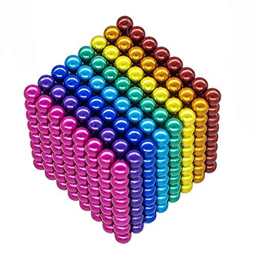 51fGDTjSD0L - JIFENGTOYS 8 Colors 216 Pcs 5MM Magnets Fidget Blocks Building Toys Magnetic Building Blocks Sets for Development Stress Relief Learning Gift for Adults (216 PCS)