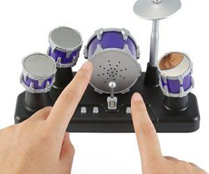 51h2B5F18daL 300x250 - Liberty Imports Electronic Mini Finger Drum Desktop Novelty Set