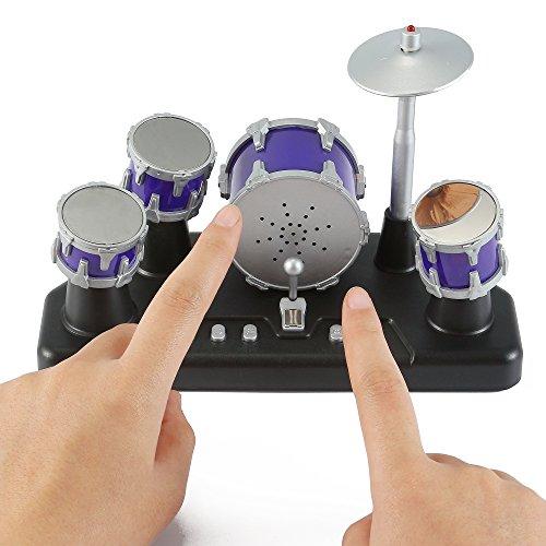 51h2B5F18daL - Liberty Imports Electronic Mini Finger Drum Desktop Novelty Set