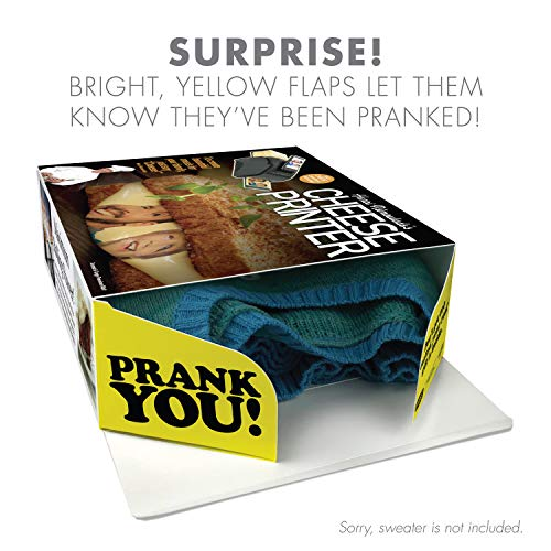 """51iechFWtSL - Prank Pack """"Cheese Printer"""" - Wrap Your Real Gift in a Prank Funny Gag Joke Gift Box - by Prank-O - The Original Prank Gift Box   Awesome Novelty Gift Box for Any Adult or Kid!"""