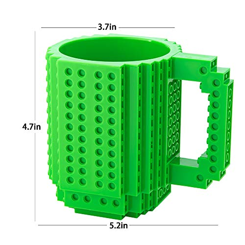 51kh2a13F0L - BOMENNE Build-on Brick Mug,Novelty Creative Compatible with LEGO DIY building Blocks Coffee Cup with bricks,is unique Christmas gift Idea (Black)