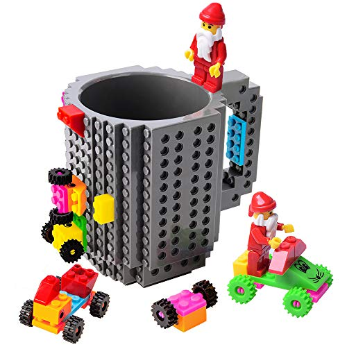 51ksQ9VZFqL - BOMENNE Build-on Brick Mug,Novelty Creative Compatible with LEGO DIY building Blocks Coffee Cup with bricks,is unique Christmas gift Idea (Black)