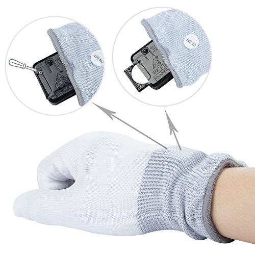 51lFdSWO6zL - LED Light up Gloves Finger Light Gloves for Kids Adults Glow Rave EDM Gloves Funny Novelty Gifts