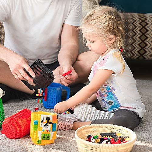 51n9CNBM73L - BOMENNE Build-on Brick Mug,Novelty Creative Compatible with LEGO DIY building Blocks Coffee Cup with bricks,is unique Christmas gift Idea (Black)