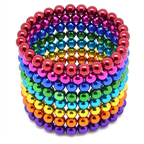 51o3C6FMMYL - JIFENGTOYS 8 Colors 216 Pcs 5MM Magnets Fidget Blocks Building Toys Magnetic Building Blocks Sets for Development Stress Relief Learning Gift for Adults (216 PCS)