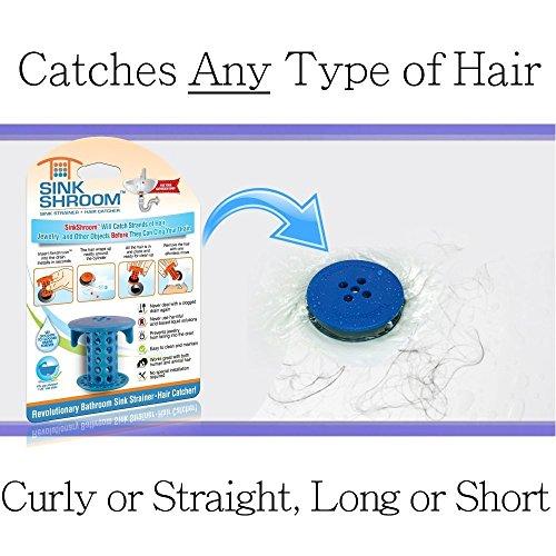 51qm55O7WhL - SinkShroom The Revolutionary Sink Drain Protector Hair Catcher/Strainer/Snare, White