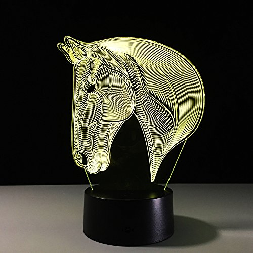 51rVn9iJM2L - Dinosaur 3D Night Light Touch Activated Desk Lamp, Ticent 7 Colors 3D Optical Illusion Lights with Acrylic Flat, ABS Base & USB Charger for Christmas Kids Gifts