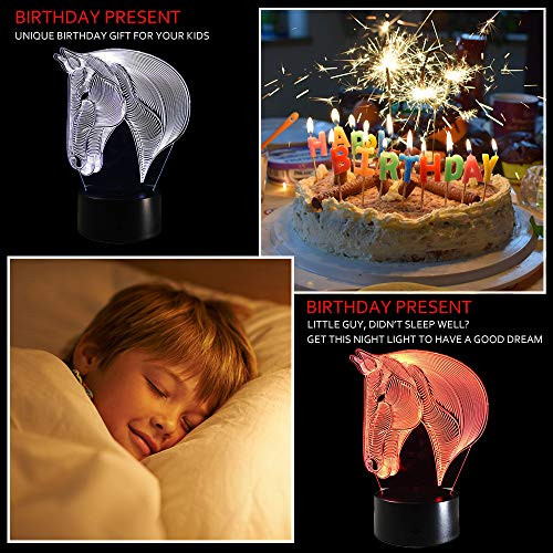 51rj1TuoG4L - Dinosaur 3D Night Light Touch Activated Desk Lamp, Ticent 7 Colors 3D Optical Illusion Lights with Acrylic Flat, ABS Base & USB Charger for Christmas Kids Gifts