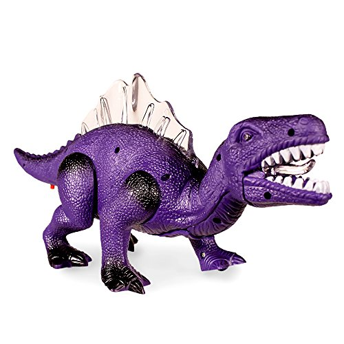 51w3M1pIpZL - Windy City Novelties LED Light Up and Walking Realistic Dinosaur with Sound