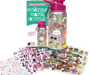 51wCorYgjwL 300x250 - Decorate & Personalize Your Own Water Bottle for Girls with Tons of Fun On-trend Stickers! BPA Free 20 oz Kids Water Bottle! Cute & Creative Gift Idea for Girl, Fun DIY Art and Craft KIt for Children