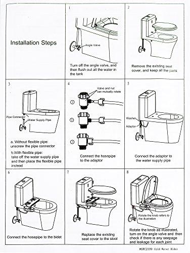 51zS5oVMfvL - Greenco Bidet Fresh Water Spray Non-Electric Mechanical Bidet Toilet Seat Attachment
