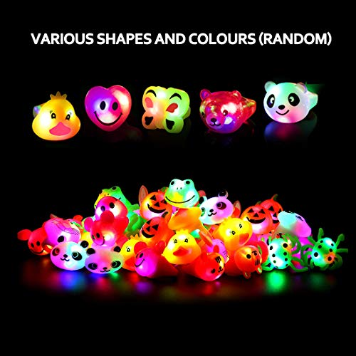 51ziykZl4jL - Light Up Rings Birthday Party Favors for Kids Prizes Flashing 24 Pack LED Jelly Rings Novelty Bulk Toys Boys Girls Gift Glow in The Dark Thanksgiving Christmas Party Supplies