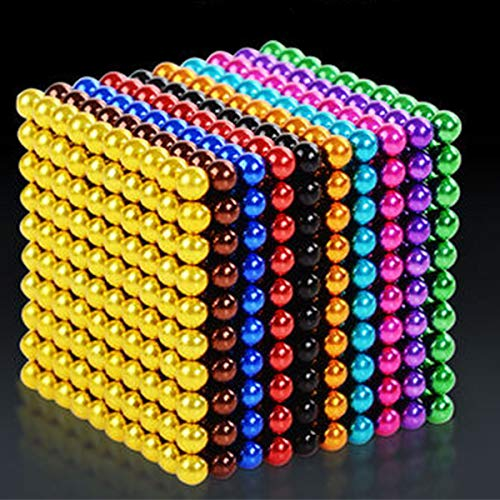 61 2B8C54V3L - JIFENGTOYS 8 Colors 216 Pcs 5MM Magnets Fidget Blocks Building Toys Magnetic Building Blocks Sets for Development Stress Relief Learning Gift for Adults (216 PCS)