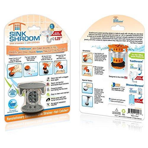 61A1aMY9jJL - SinkShroom The Revolutionary Sink Drain Protector Hair Catcher/Strainer/Snare, White