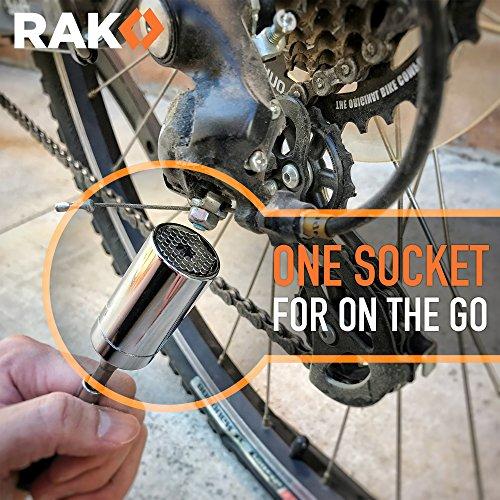 61J9wasOoFL - RAK Universal Socket Grip (7-19mm) Multi-Function Ratchet Wrench Power Drill Adapter 2Pc Set - Best Unique Christmas Gift for Men, DIY Handyman, Father/Dad, Husband, Boyfriend, Him, Women