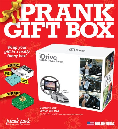 """61PEwT2KHAL - Prank Pack """"iDrive"""" - Wrap Your Real Gift in a Prank Funny Gag Joke Gift Box - by Prank-O - The Original Prank Gift Box   Awesome Novelty Gift Box for Any Adult or Kid!"""