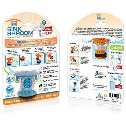 61PTUrG3tRL - SinkShroom The Revolutionary Sink Drain Protector Hair Catcher/Strainer/Snare, White