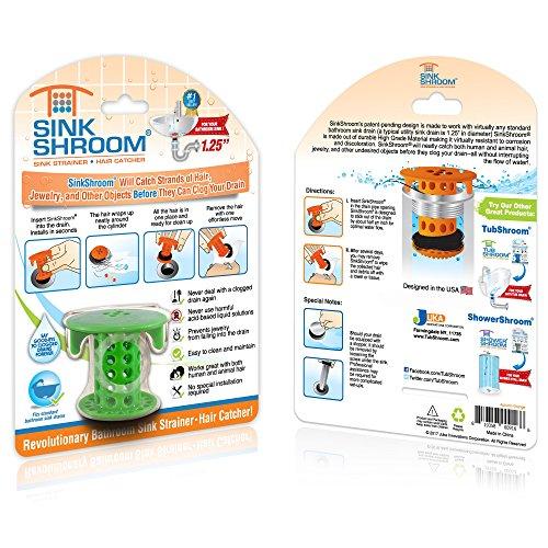 61ZcZaVoWHL - SinkShroom The Revolutionary Sink Drain Protector Hair Catcher/Strainer/Snare, White