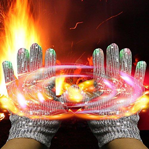 61bkvvAJIZL - LED Light up Gloves Finger Light Gloves for Kids Adults Glow Rave EDM Gloves Funny Novelty Gifts