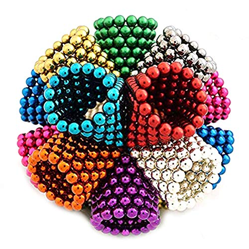 61gs1xAS5uL - JIFENGTOYS 8 Colors 216 Pcs 5MM Magnets Fidget Blocks Building Toys Magnetic Building Blocks Sets for Development Stress Relief Learning Gift for Adults (216 PCS)