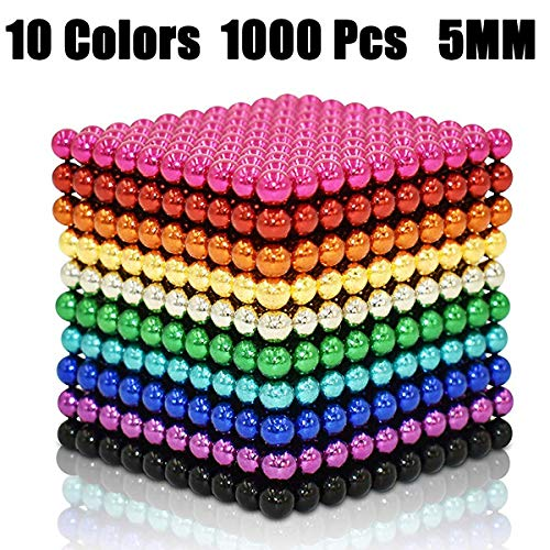 61uxjGocyLL - JIFENGTOYS 8 Colors 216 Pcs 5MM Magnets Fidget Blocks Building Toys Magnetic Building Blocks Sets for Development Stress Relief Learning Gift for Adults (216 PCS)