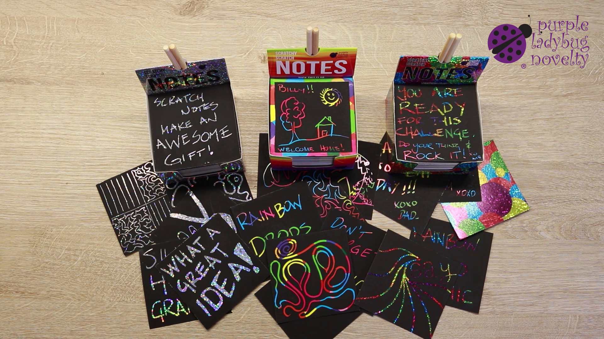 B1tuhD75A7S - Rainbow Scratch Off Mini Notes + 2 Stylus Pens Kit: 150 Sheets of Rainbow Scratch Paper for Kids Arts and Crafts, Airplane or Car Travel Toys - Cute Unique Gift Idea for Kids, Girls, Women, or Anyone!